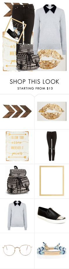 """""""Back To School #2"""" by luanaalvess ❤ liked on Polyvore featuring WALL, NLY Accessories, Edit, Steve Madden, Ray-Ban and Kate Spade"""
