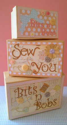"Hand decorated boxes for all your ""Bits & Bobs"""