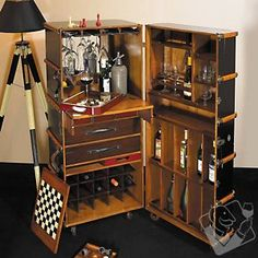 Stateroom Steamer Trunk Bar at Wine Enthusiast - $2929.00