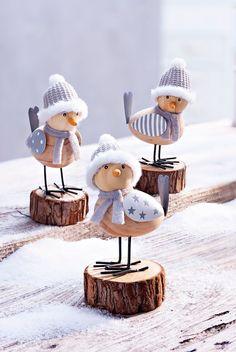 "Dekofiguren ""Wintervögel"" – Valentine Crafts For Kids Christmas Projects, Fall Crafts, Christmas Crafts, Diy And Crafts, Crafts For Kids, Christmas Ornaments, Reindeer Decorations, Felt Decorations, Christmas Decorations"