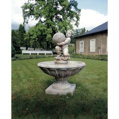 garten #dekoration #brunnen #gussstein #kunststein #fontaine ...