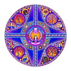 Virgo Astrology Mandala Art Print Inspirational by LindyLonghurst, $18.00