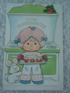 Vintage Strawberry Shortcake Card