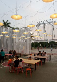 Indonesian open-air cinema by Csutoras & Liando built from scaffolding and plywood                                                                                                                                                      More