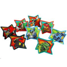 Cupcake Favor Rings - Power Rangers Dino Charged (24)