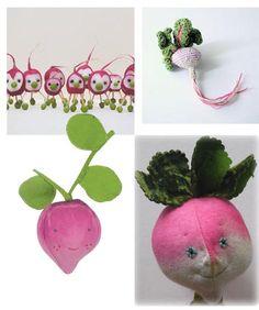 Cute as a radish! http://knuffelsalacarteblog.blogspot.nl/2014/04/cute-as-radish.html