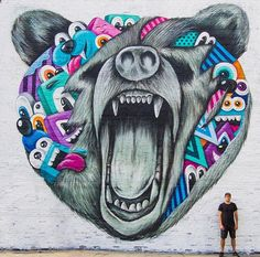Atlanta-based street artist Greg Mike. His murals can be seen all around the city and across the US.