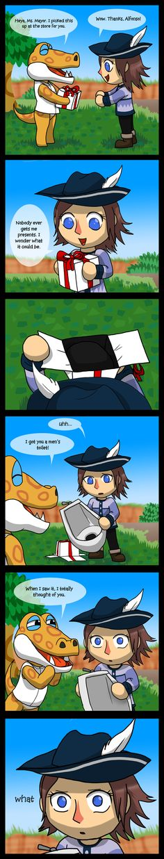 Animal Crossing New Leaf - A Gift by Wolf-Goddess13.deviantart.com on @deviantART