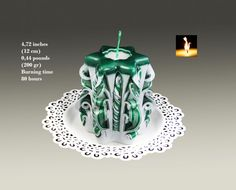 Christmas gift-Christmas Candle-Carved by MonnaCandles on Etsy