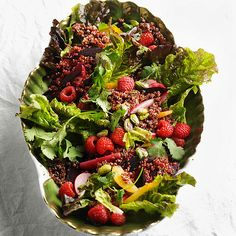 Red Quinoa Salad with Raspberries and Beets