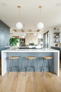 wohnideen küche ziegelwand fesselt den blick in dieser modernen küche