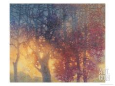 Colorful Autumn Giclee Print by Yunlan He at Art.com