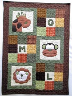 Jungle Chic Sweet Nursery Flannel Baby Quilt Kit