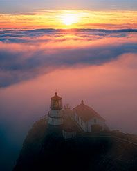 """There's something mystical about this picture, """"Point Reyes Lighthouse"""" - Point Reyes National Seashore, CA by Rodney Lough Jr."""