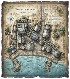 dnd map of a major city Fantasy City Map, Fantasy World Map, Fantasy Places, Dungeons And Dragons Homebrew, D&d Dungeons And Dragons, Dungens And Dragons, Plan Ville, Pathfinder Maps, Village Map