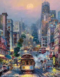 Zhui star diamond embroidery street cityscape diy diamond painting Cross Stitch full square Rhinestone mosaic home decoration Beautiful Paintings, Beautiful Landscapes, Art Watercolor, City Painting, Scenery Wallpaper, Anime Scenery, City Art, Landscape Art, Amazing Art