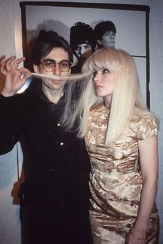 """The 18 Most Epic Musical Romances, Ever #refinery29  http://www.refinery29.com/famous-music-romances#slide9  Debbie Harry & Chris Stein  Singer Debbie Harry and guitarist Chris Stein were Blondie, writing major hits """"Heart of Glass"""" and """"Rapture"""" together and dating from the band's inception through the end of the '80s. While they're no longer romantically linked, they're still touring and recording together. So, that counts."""