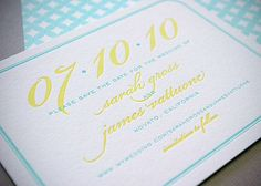 save the date <--- love the colors