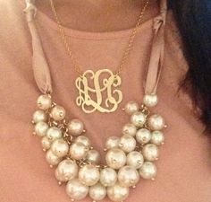 "If I ever got a monogram necklace of my initials, it would say ""Meh"". Needless to say, I won't be getting a monogram necklace with my initials."