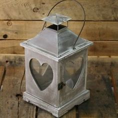Limewash-Heart-Lantern-34Cm-Shabby-Chic-Candle-Holder