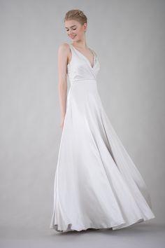 Silk charmeuse wedding gown