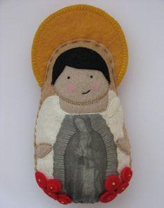 Saint Juan Diego...Felt Softie by SaintlySilver on Etsy, $19.00