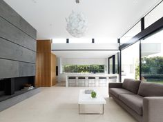 Granite on fireplace