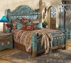 Gentil Beautiful Bedroom In The New Mexican Style