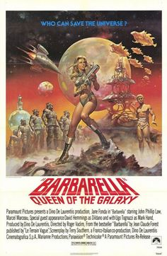 October 18th (1968): Barbarella, Roger Vadim (dir).    In the far future, a highly sexual woman is tasked with finding and stopping the evil Durand-Durand. Along the way she encounters various unusual people