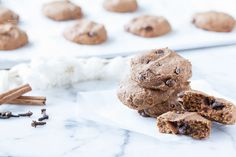 A recipe for Paleo, gluten-free Egg-Free & Nut-Free Pumpkin Chocolate Chip Cookies