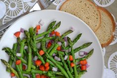 Asparagus Spring Salad Spring Salad, Asparagus, Green Beans, Meals, Vegetables, Recipes, Food, Studs, Meal