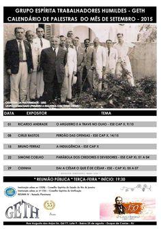 Calendário de Palestras do Mês de Setembro do GETH – Duque de Caxias – RJ - http://www.agendaespiritabrasil.com.br/2015/08/29/calendario-de-palestras-do-mes-de-setembro-do-geth-duque-de-caxias-rj/