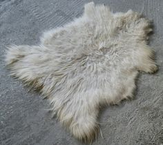 NEW YEAR'S CLEARANCE 50% Off Natural Goatskin Rug White by RugToGo