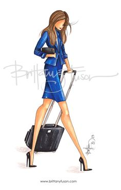 A custom illustration for a young professional on the go.