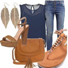 Abito blu o oro boots