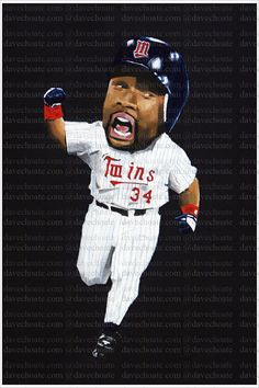 Kirby Puckett Minnesota Twins Art Photo Print by choateart on Etsy