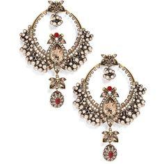 Women's Alexander Mcqueen Sphere Chandelier Earrings ($1,695) ❤ liked on Polyvore featuring jewelry, earrings, antique gold, skull jewellery, glitter earrings, statement earrings, skull jewelry and antique gold jewelry
