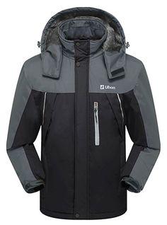 Ubon Men's Waterproof Windproof Fleece Ski Jacket Outdoor Insulated Snow Jacket