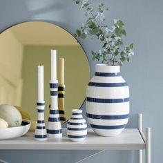Omaggio Vase Steel Blue Large