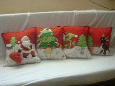 "COJINES NAVIDEÑOS...........¡¡¡¡¡¡¡ | COMFY ""esoge tu diseño y lo hacemos realidad"" Christmas Cushions, Christmas Napkins, Christmas Applique, Christmas Pillow, Christmas Time, Vintage Christmas, Christmas Crafts, Xmas Eve Boxes, Painted Toms"