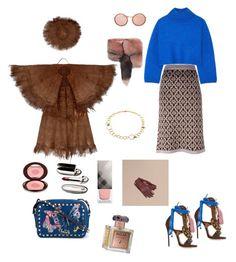 """quiet pink with loud blue..."" by harikleiatsirka on Polyvore featuring D'enia, Dsquared2, Vika Gazinskaya, Dolce&Gabbana, Linda Farrow, Valentino, Burberry, Roja Parfums, Charlotte Tilbury and Guerlain"