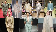 """2. Men Trends Spring Summer 2015: Stay Neutral    """"Stay Neutral"""" seems like the colour mantra of the season, with bright colours used to dumb down tailoring or add drama as prints. Sages, mints, blushes, beiges, greiges and khakis are the protagonists of the Spring Summer 2015 colour palette."""