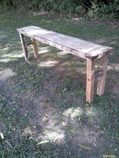 This beautiful table is made rough cut, or reclaimed wood depending what we have in stock. We have added rusted nails and hinges to add to the overall rustic feel. The table we build you will have similar added rusted décor if you would like, but it will not be exactly the same. Also, all barn wood has different color and texture as well.  Custom table 48 inches wide, 13 inches deep, and 32 inches tall,   6-8 weeks for delivery with some assembly required