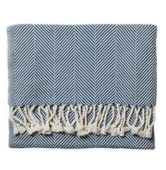 Serena & Lily Cotton Herringbone Throw