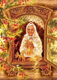 Просмотреть иллюстрацию Бабушка.  из сообщества русскоязычных художников автора Таня Сытая / Tanya Sitaya в стилях: Книжная графика, нарисованная техниками: Растровая (цифровая) графика.