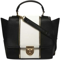 e9c28f062dfc Dorothy Perkins Black and white mini satchel bag ( 27) ❤ liked on Polyvore  featuring
