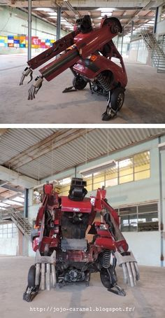 Artist Hetain Patel transformed a 1988 Ford Fiesta into Transformer.