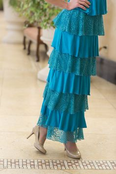 Dreaming in Vintage (Teal) | Dainty Jewell's modest