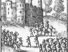 Defence of Wardour Castle by Lady Arundel, 1643, detail from 'Mercurius Rusticus' Source: Adair, By the sword divided, 42. From http://earlymodernweb.org