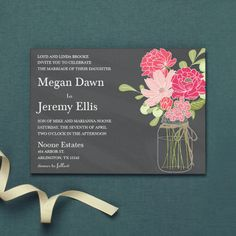 Rustic Countryside Floral wedding invitations, exclusively from Walmart Stationery. Looking for CHEAP! This is it! And its cute!